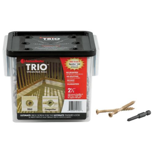 Omg FMTRD003-350 Deck Screws, Brown, 3-In., 350-Pk.