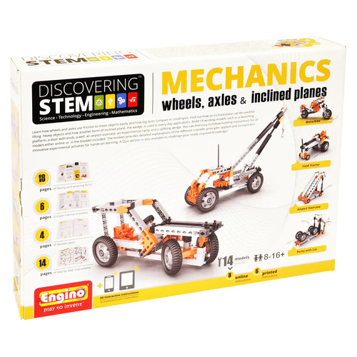 Engino STEM Mechanics Wheels, Axles, & Inclines Kit