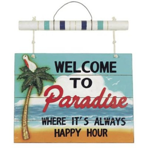 RAM Game Room ''Welcome to Paradise'' Wall D cor