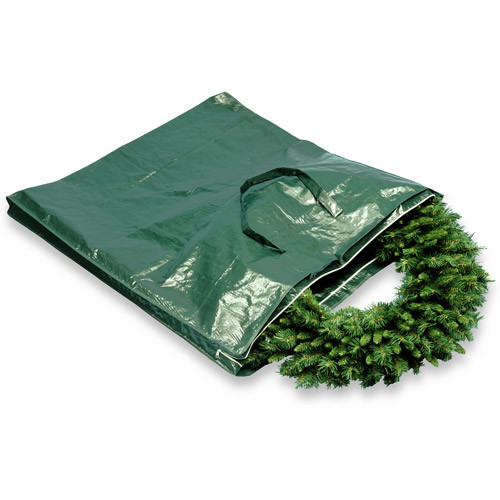 National Tree Company Heavy Duty Wreath and Garland Storage Bag with Handles & Zipper-Fits up to 4' Decorated Wreath