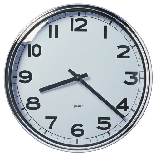 PUGG Wall clock, stainless steel