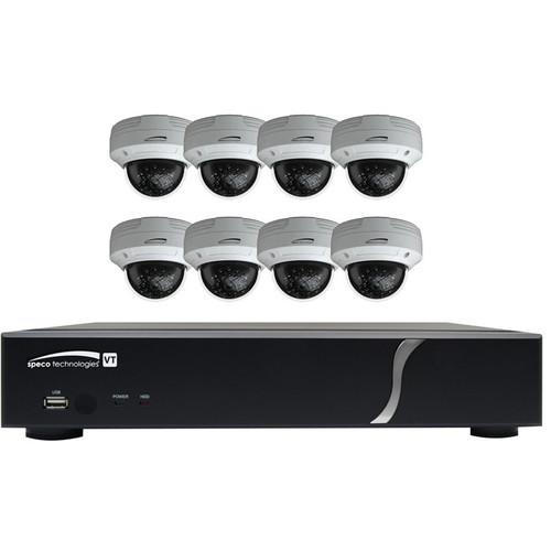 8-Channel 1080p DVR with 2TB HDD and 8 1080p Dome Cameras