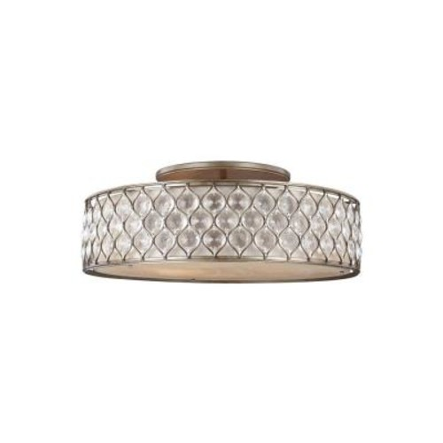 Feiss Lucia 6-Light Burnished Silver Ceiling Fixture