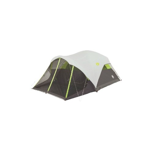 Coleman Steel Creek Fast Pitch 6-Person Dome Tent W/ Screen Room 2000018059 w/ Free Shipping
