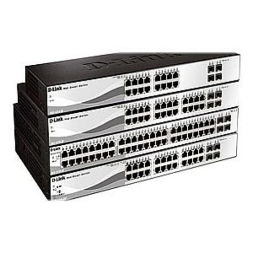 D-Link Web Smart Managed Switch - 24 x 10/100/1000 (PoE) + 4 x Gigabit SFP, Desktop, Rack-mountable, PoE - DGS-1210-28P