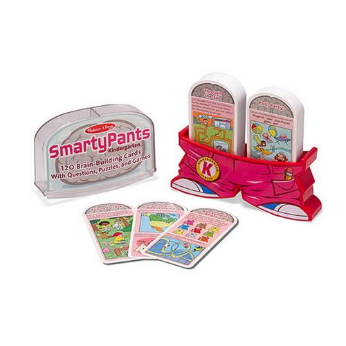 Melissa & Doug Smarty Pants Kindergarten Card Set - 120 Educational, Brain-Building Questions, Puzzles, and Games