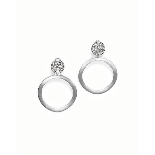 Sterling Silver Glamazon Stardust Pav Diamond Hoop Drop Earrings - 100% Bloomingdale's Exclusive
