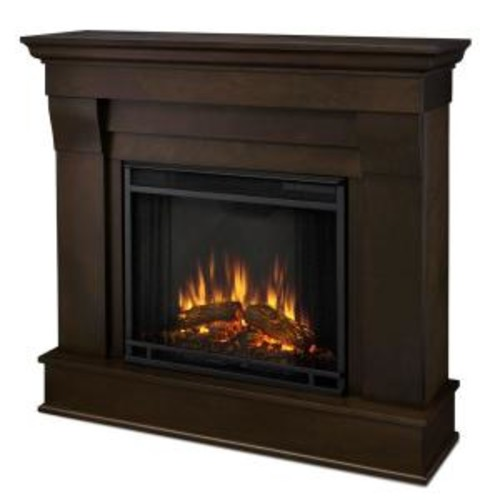 Real Flame Chateau 41 in. Electric Fireplace in Dark Walnut