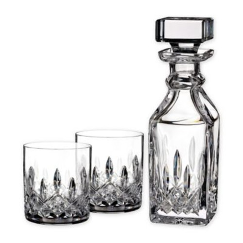 Waterford Lismore Connoisseur 3-Piece Square Decanter and Tumbler Set