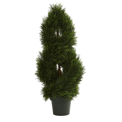 Nearly Natural UV Resistant Indoor/Outdoor Double Pond Cypress Spiral Artificial Topiary Tree
