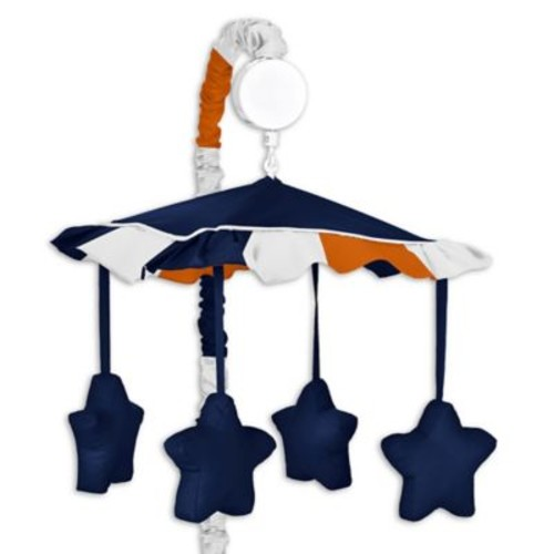 Sweet Jojo Designs Navy and Orange Stripe Musical Mobile