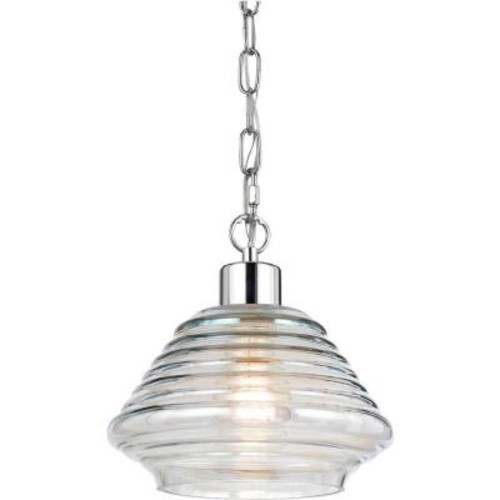 AF Lighting Roxie 1-Light Clear Iridescent Glass Pendant