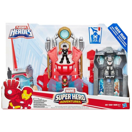 Playskool Heroes Marvel Super Hero Adventures Iron Man Armor-Up Fortress by Hasbro