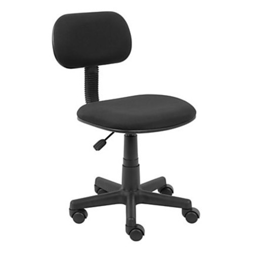 Boss Fabric/Plastic Low-Back Task Chair, Black