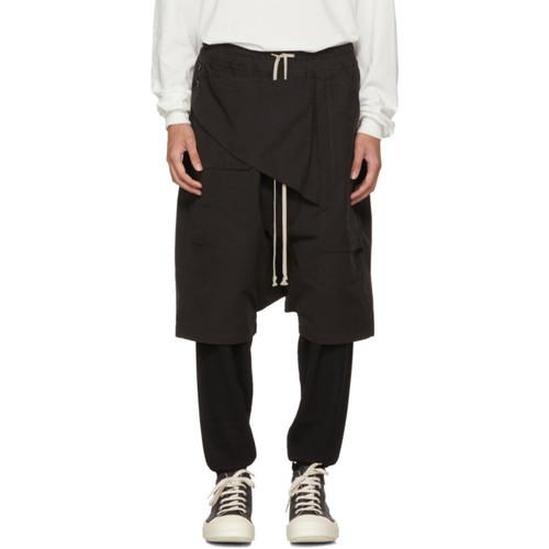 RICK OWENS DRKSHDW Black Memphis Pods Shorts