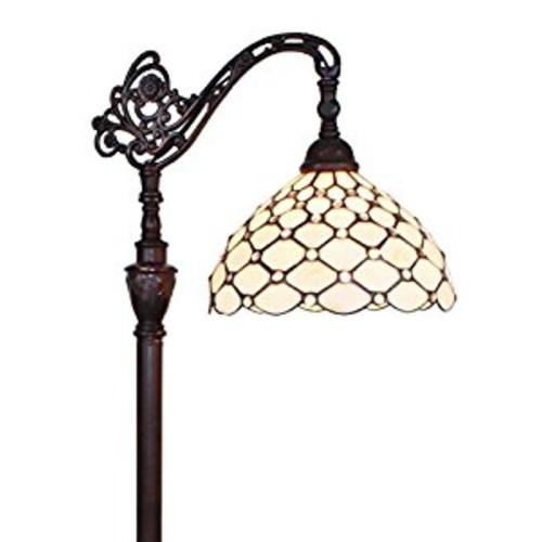 Amora Lighting AM028FL12 Tiffany Style Jeweled Reading Floor Lamp 62 In