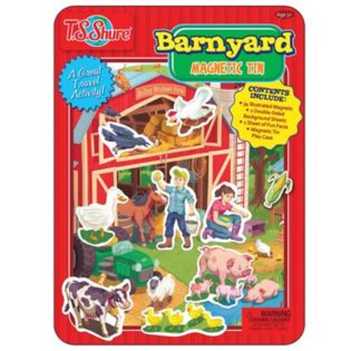 TS Shure Barnyard Friends Magnetic Tin Playset