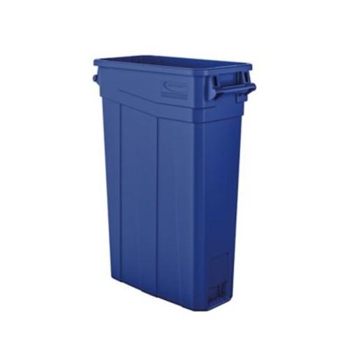 Suncast Commercial Slim Trash Can w/ Handles, 23 Gal Blue (TCNH2030BL)