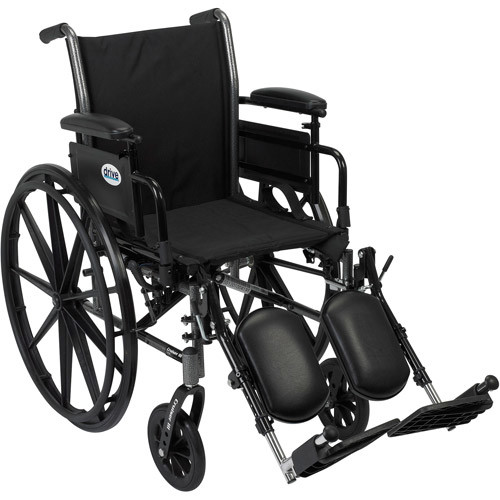 Drive Medical Cruiser III Light Weight Wheelchair with Flip Back Removable Arms, Adjustable Height Desk Arms, Elevating Leg Rests, 16