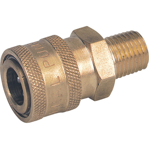 NorthStar Pressure Washer Quick Coupler  3/8in. Male, 4500 PSI, Brass, Model# ND10004P