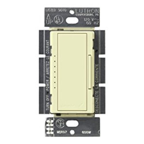 Lutron Maestro C.L Dimmer Switch for Dimmable LED, Halogen & Incandescent Bulbs, Single-Pole or Multi-Location, MACL-153M-AL, Almond [Almond]
