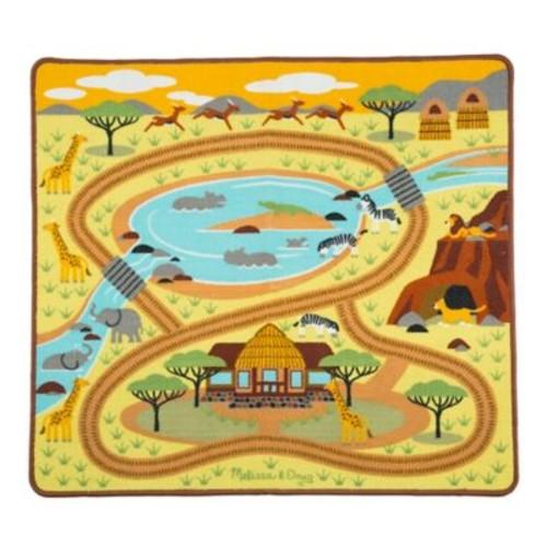 Melissa & Doug Round the Savanna Safari Play Rug