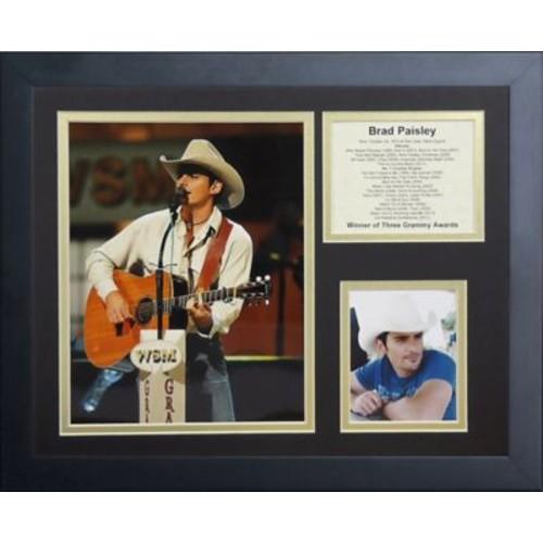Legends Never Die Brad Paisley Framed Memorabilia