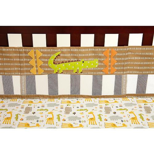 NoJo Zoobilee Secure-Me Crib Liner
