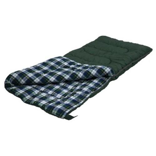 Stansport Weekender 4 LB Rectangular Sleeping Bag - Dark Green