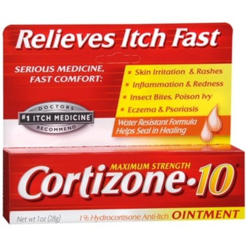 Cortizone-10 Maximum Strength Anti-Itch Ointment 1 oz (Pack of 4)