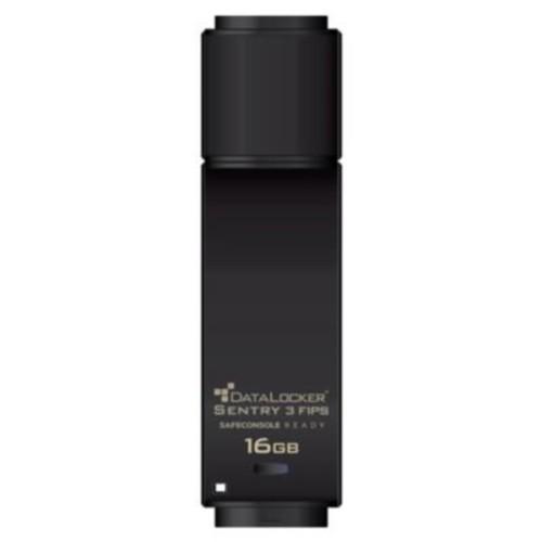 DATA LOCKER Sentry 3 8GB USB 3.0 FIPS Encrypted Flash Drive, Black (SENTRY08F)