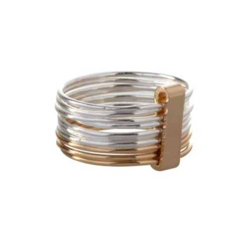 Basic Multi-Row Stacked Two-Tone Ring