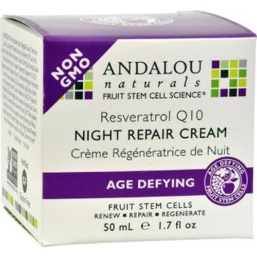 Andalou Naturals - Resveratrol Q10 Night Repair Cream ( 1 - 1.7 OZ)