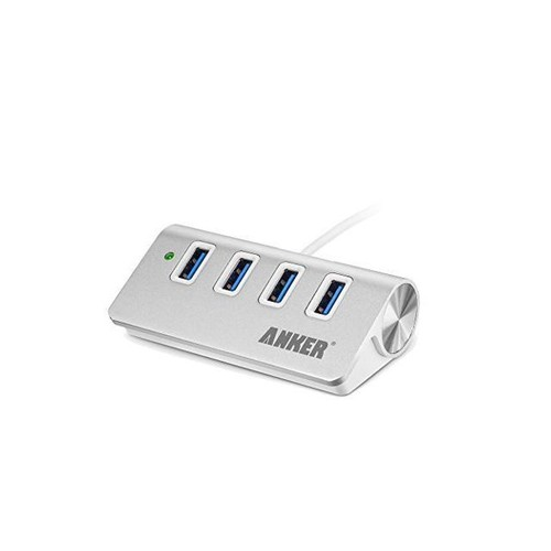 USB Hub, Anker 4-Port USB 3.0 Portable Aluminum Hub with 2-Foot USB 3.0 Cable, for iMac, MacBook, MacBook Pro, MacBook Air, Mac Mini, or any PC (Silver)