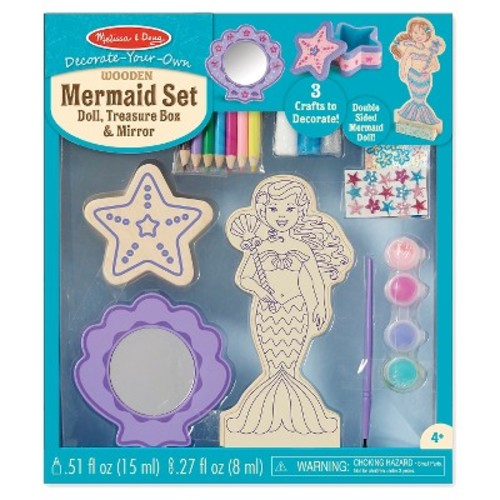 Melissa & Doug Decorate Your Own - DYO Wooden Mermaid Set
