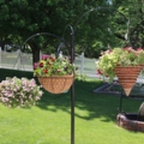 Sunnydaze 4 Arm Hanging Basket Stand with Adjustable Arms 84
