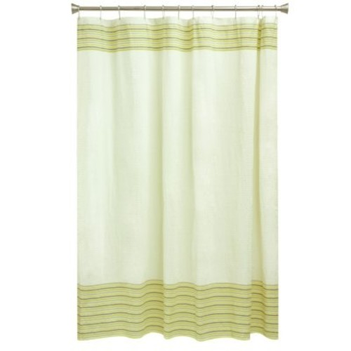 Bacova Seersucker Shower Curtain, Coconut Milk