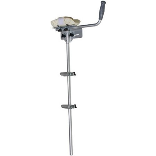 DMI Walker Platform Attachment with Adjustable Padded Cuff, No Tools Needed, Attaches to Most Walkers, Silver