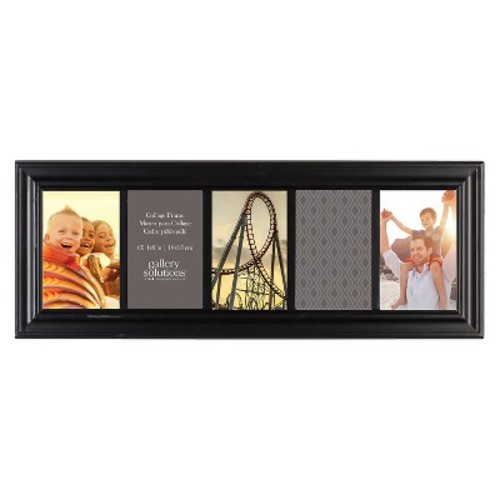 Gallery Solutions Black Linear Collage Frame with 5 Openings [5-Opening]