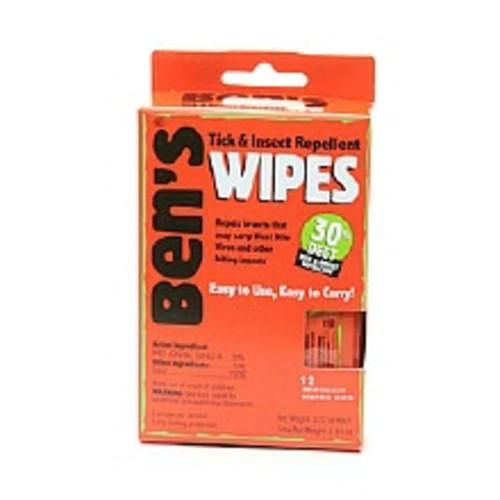 Ben's Tick & Insect Repellent Wipes, 30% Deet
