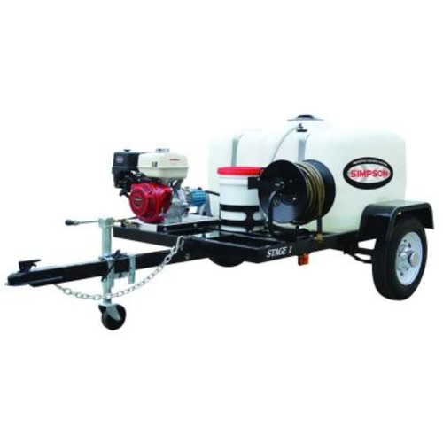 Simpson 4,200 PSI 4.0 GPM Gas Pressure Washer Trailer System