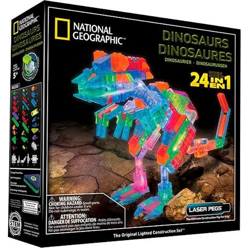 LASER PEGS - 24-In-1 National Geographic Dinosaurs Construction Set