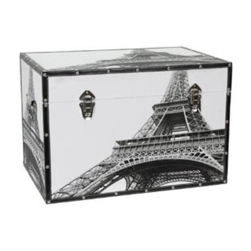 Oriental Furniture CAN-TRNK-EIF Eiffel Tower Trunk
