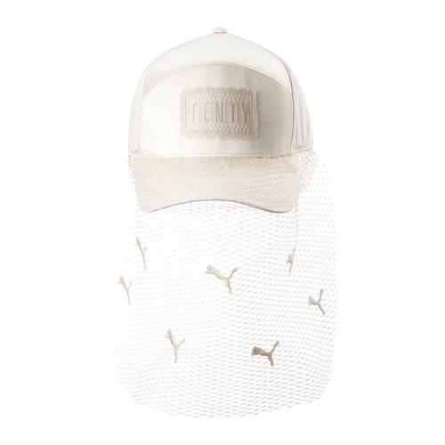 FENTY PUMA BY RIHANNA Parisian Net Veil Baseball Hat, White