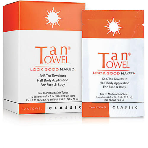 Self_Tan Towelette Half Body Application For Face & Body