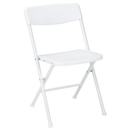 Cosco Resin Folding Chair with Molded Seat and Back White Speckle, 4-Pack [White, 0037825WSP4E Folding Chair]