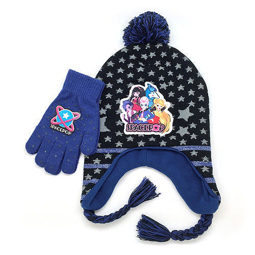 Spacepop Cold Weather Hat and Glove Set - Purple Stars