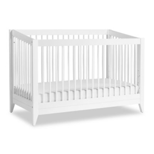 Babyletto Sprout 4-in-1 Convertible Crib with Toddler Bed Conversion Kit in White