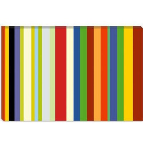 iCanvas Striped Barnum & Bailey Circus Graphic Art on Canvas; 26'' H x 40'' W x 1.5'' D