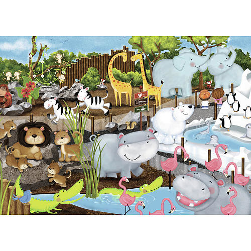 Ravensburger Jigsaw Puzzle 35-Piece - Day at the Zoo